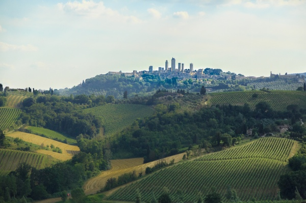 San Gimigano from the distance
