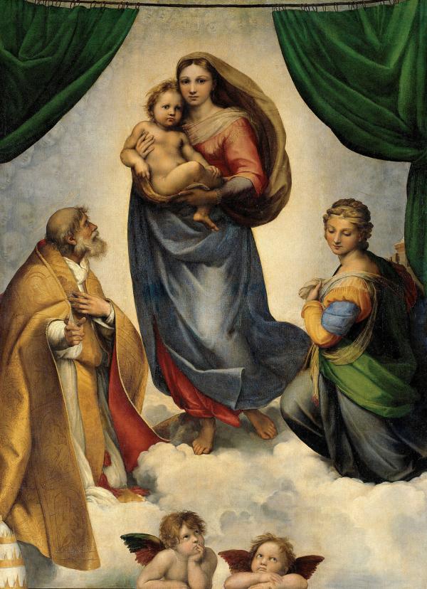 The Sistine Madonna, Gemäldegalerie Alte Meister, Dresden