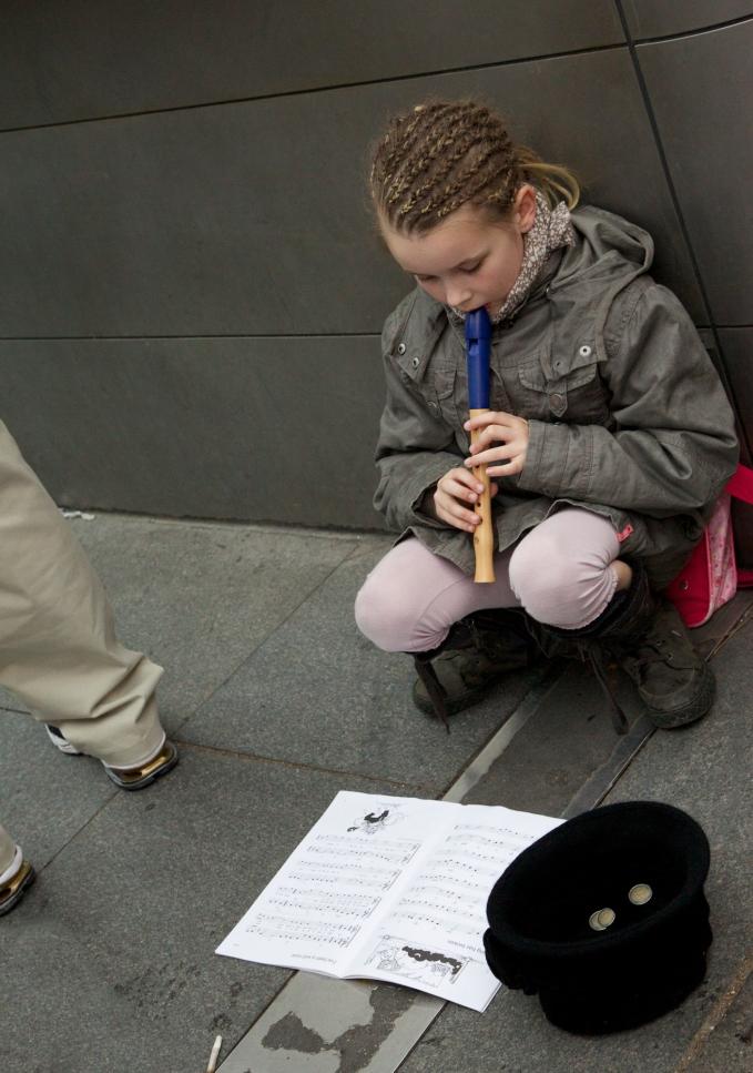 Street performer, Sacre Coeur