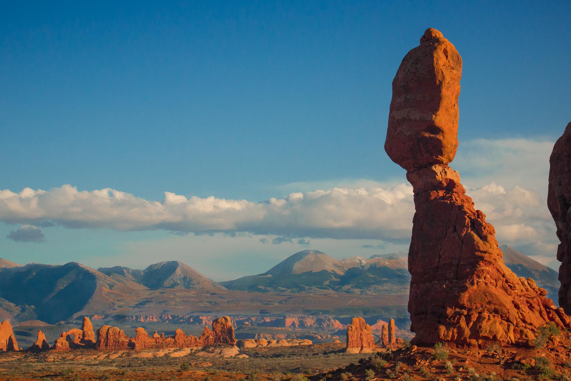 balanced rock at sunset travel photograph experience