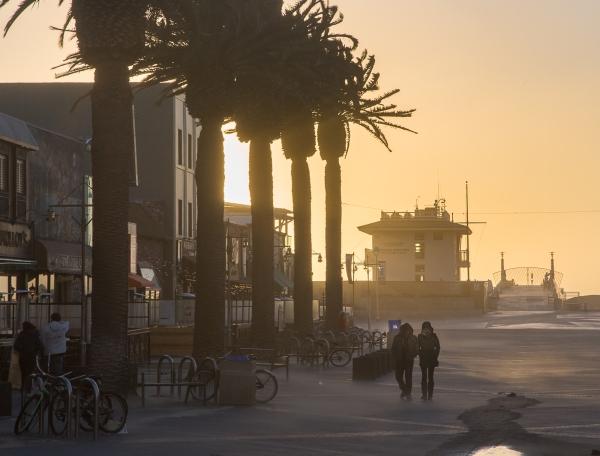 Hermosa Pier, sandstorm