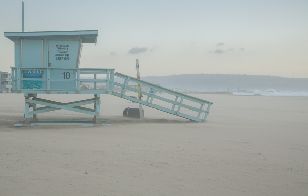 Lifeguard Stand in the Sandstorm
