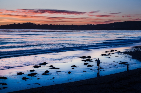Carmel Beach, Sunset