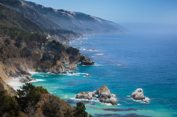 Afternoon, Big Sur from Below Pfeiffer State Park to San Simeon