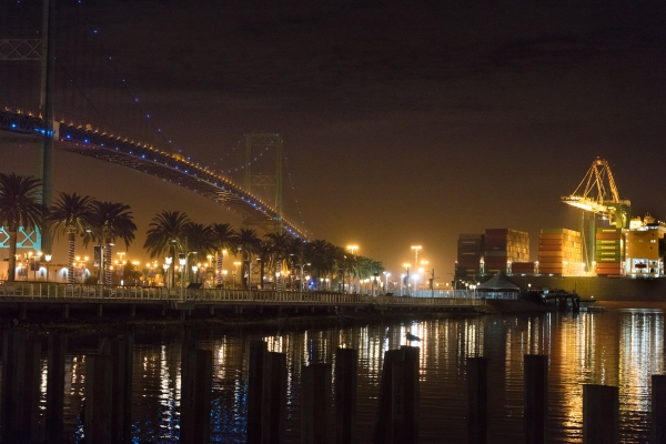 Vincent Thomas Bridge from Harbor Blvd.