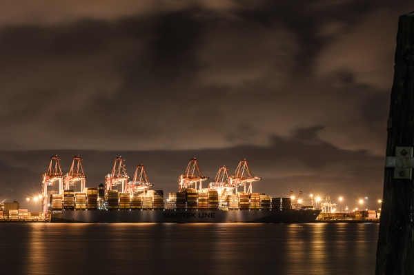 Maersk Line in Orange and Gray