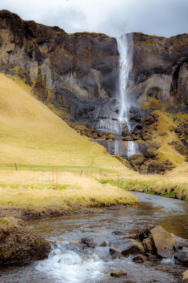 Waterfall in SE coast, 60 miles east of Vik in Sidu